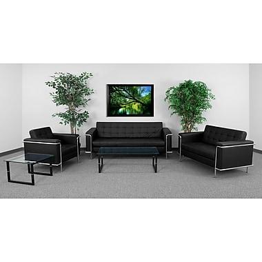 Flash Furniture HERCULES Lesley Series Contemporary Leather Reception Set, Black (ZBLES8090SETBK)