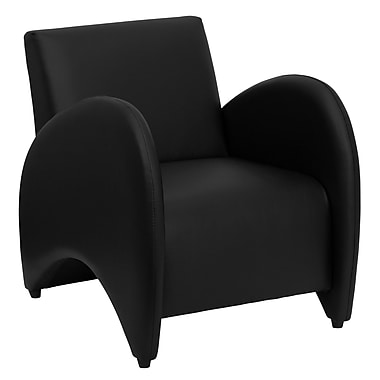 Flash Furniture Hercules Patrician LeatherSoft Reception Chair, Black (ZBPATRICIANBK)