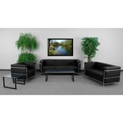 Flash Furniture HERCULES Regal Series Reception Set, Black