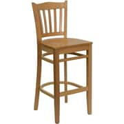 Flash Furniture HERCULES Series Natural Wood Vertical Slat Back Restaurant Bar Stool