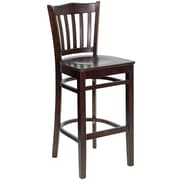 Flash Furniture HERCULES Series Walnut Wood Vertical Slat Back Restaurant Bar Stool