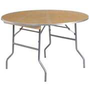 Flash Furniture 48'' Round Heavy Duty Folding Banquet Table with Metal Edges, Birchwood