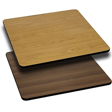 Flash Furniture 30'' Square Reversible Laminate Table Top, Natural or Walnut