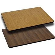 Flash Furniture 30'' x 45'' Rectangular Reversible Laminate Table Top, Natural or Walnut