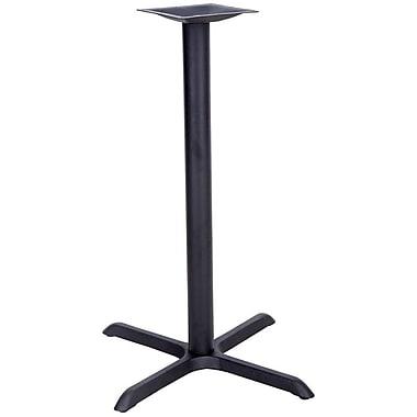 Flash Furniture 22'' x 30'' Cast Iron Restaurant Table X-Base with 3'' Dia. Bar Height Column, Black