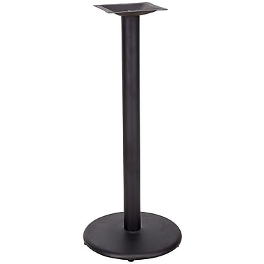 Flash Furniture 18'' Round Cast Iron Restaurant Table Base with 3'' Dia. Bar Height Column, Black