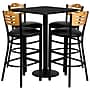 Flash Furniture 30'' Square Black Laminate Table Set