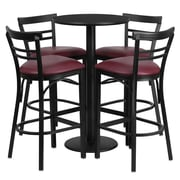Flash Furniture 41.75'' Contemporary Foot Ring/Bar Vinyl Bar Stool, Burgundy (RSRB1037)