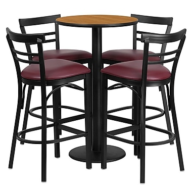 Flash Furniture 41.75'' Contemporary Foot Ring/Bar Vinyl Bar Stool, Burgundy (RSRB1039)