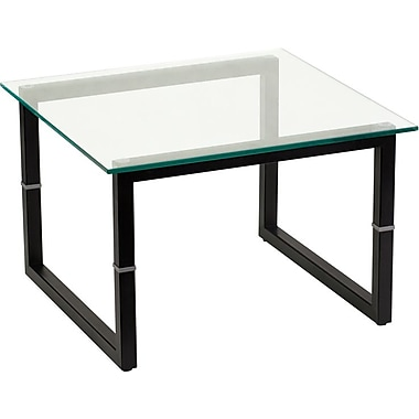 Flash Furniture Glass End Table, Clear Glass, Each (FDENDTBL)