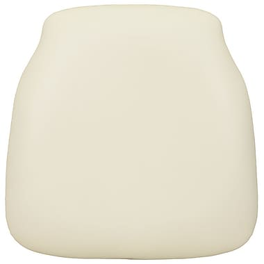 Flash Furniture Hard Fabric Chiavari Chair Cushion for Wood Chiavari Chairs, Ivory, 10/Pack