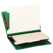 Smead® Letter 2 Divider Recycled Classification Folder w/2 Expansion, Green, 10/Pack