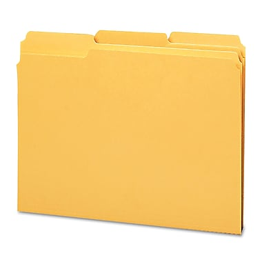 Smead® Letter 1/3 Cut Recycled Reinforced File Folder w/ 3/4in. Expansion, Goldenrod, 100/Pack