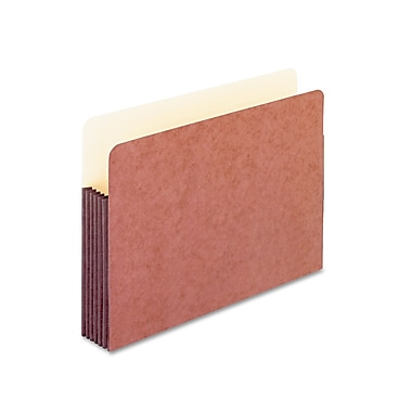 Esselte® Pendaflex® Legal Recycled Straight Cut File Pocket w/5 1/4in. Expansion, Red, 10/Pack