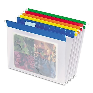 Esselte® 9 1/4in. x 11 3/4in. Letter 1/5 Cut Hanging Folder, Assorted, 25/Pack
