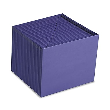 Smead® Letter 21 Pockets Expanding File w/7/8in. Expansion, Purple