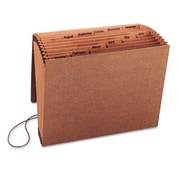 "Smead® Letter 12 Pockets Expanding File w/7/8"" Expansion, Brown"