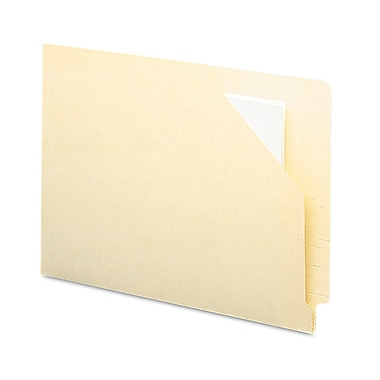 Smead® Letter Straight Cut Recycled File Jacket w/1 3/4in. Manila, 100/Pack