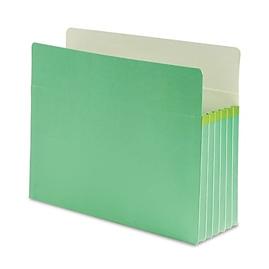 Smead® Letter Straight Cut Recycled File Pocket with 5 1/4in. Expansion, Green