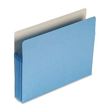 Smead® Letter Straight Cut Recycled File Pocket w/5 1/4in. Expansion, Blue