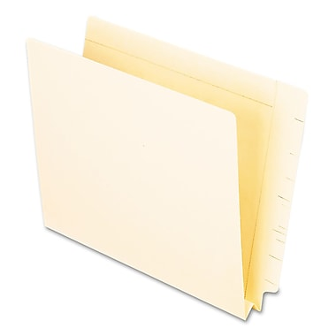 Oxford® Letter Straight Cut End Tab File Folder w/1 1/2in. Expansion, Manila, 50/Pack