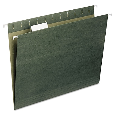 Smead® Letter 1/5 Cut Recycled Hanging File Folder, Green, 25/Pack
