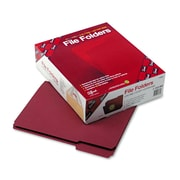 Smead® Letter 1/3 Cut Recycled Two Ply File Folder w/ 3/4 Expansion, Maroon, 100/Pack