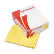 "Pendaflex® Letter Straight Cut End Tab File Folder w/3/4"" Expansion, Yellow, 100/Pack"