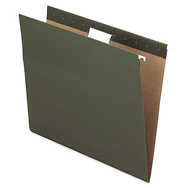 Oxford® Letter 1/5 Cut Hanging File Folder, Green, 25/Pack