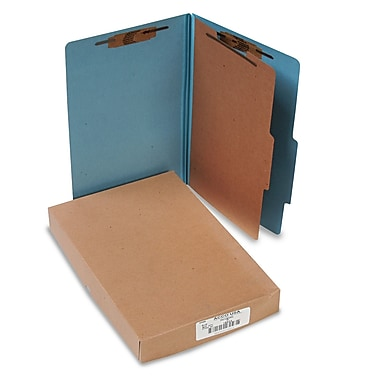Acco® Legal 1 Divider Recycled Classification Folder w/2in. Expansion, Sky Blue, 10/Pack