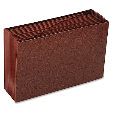 Smead® Legal 12 Pockets Expanding File w/7/8in. Expansion, Redrope