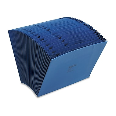 Acco® 31 Pockets Expanding File w/27in. Expansion, Dark Blue