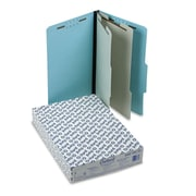 Pendaflex® Legal 2 Divider 2/3 Cut Recycled Classification Folder, 2 Expansion, Blue, 10/Pack