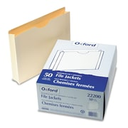 Pendaflex® Letter Straight Cut File Jacket w/2 Expansion, Manila, 50/Pack