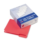 Pendaflex® Letter Recycled 1/3 Cut Top File Folder w/ 3/4 Expansion, Red, 100/Pack