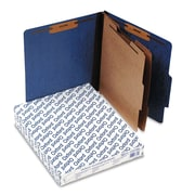 Oxford® Letter 2 Divider Recycled Classification Folder w/2 Expansion, Blue, 10/Pack