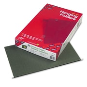 Smead® Legal Recycled Hanging Folder Without Tab, Green, 25/Pack