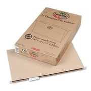 Oxford® Legal 1/5 Cut Recycled Hanging Folder, Natural, 25/Pack