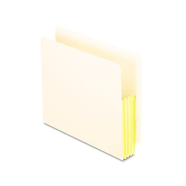 Oxford® Letter Straight Cut File Pocket w/5 1/4in. Expansion, Manila, 10/Pack