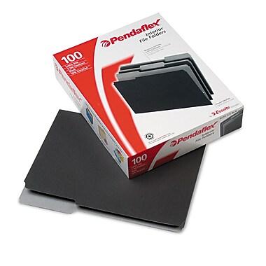 Pendaflex® Letter 1/3 Cut File Folder, Black, 100/Pack