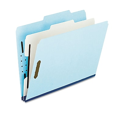 Oxford® Letter 1 Divider Recycled Classification Folder w/1in. Expansion, Blue, 10/Pack