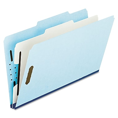 Oxford® Legal 1 Divider Recycled Classification Folder w/1in. Expansion, Blue/Gray, 10/Pack