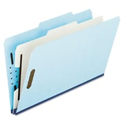 Oxford® Legal 1 Divider Recycled Classification Folder w/1 Expansion, Blue/Gray, 10/Pack