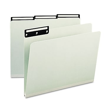 Smead® Letter 1/3 Cut File Folder w/1in. Expansion, Gray/Green, 25/Pack