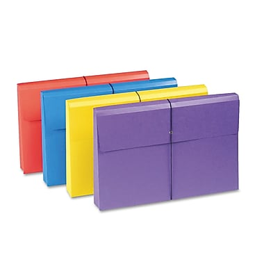 Smead® Legal Recycled Expanding Wallet w/2in. Expansion, Blue, Purple, Red and Yellow, 4/Pack