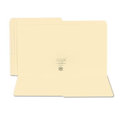 Smead® Legal 1/2 Cut Recycled File Folder w/ 3/4in. Expansion, Manila, 100/Pack