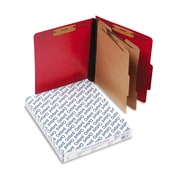 Oxford® Letter 2 Divider Recycled Classification Folder w/2 Expansion, Scarlet, 10/Pack