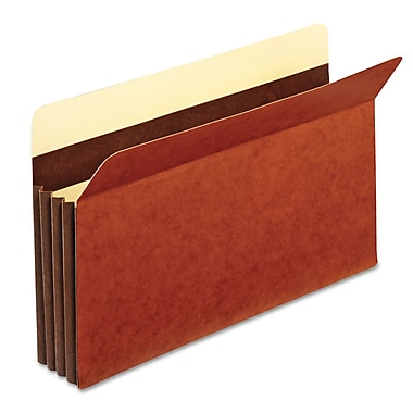 Globe-Weis® Legal Straight Cut Recycled File Pocket w/3 1/2in. Expansion, Brown, 25/Pack