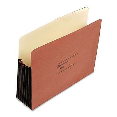 Acco® Letter Straight Cut Recycled File Pocket w/7in. Expansion, Redrope, 10/Pack