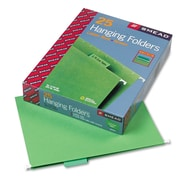 Smead® Letter 1/5 Cut Recycled Hanging Folder, Green, 25/Pack